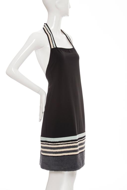 Women's Chanel Black Halter - Dress With Terrycloth Trim, Cruise 2000 For Sale
