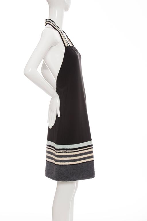 Chanel Black Halter - Dress With Terrycloth Trim, Cruise 2000 For Sale 1