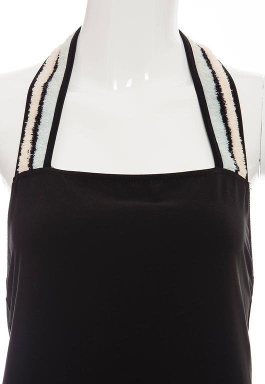 Chanel Black Halter - Dress With Terrycloth Trim, Cruise 2000 For Sale 2