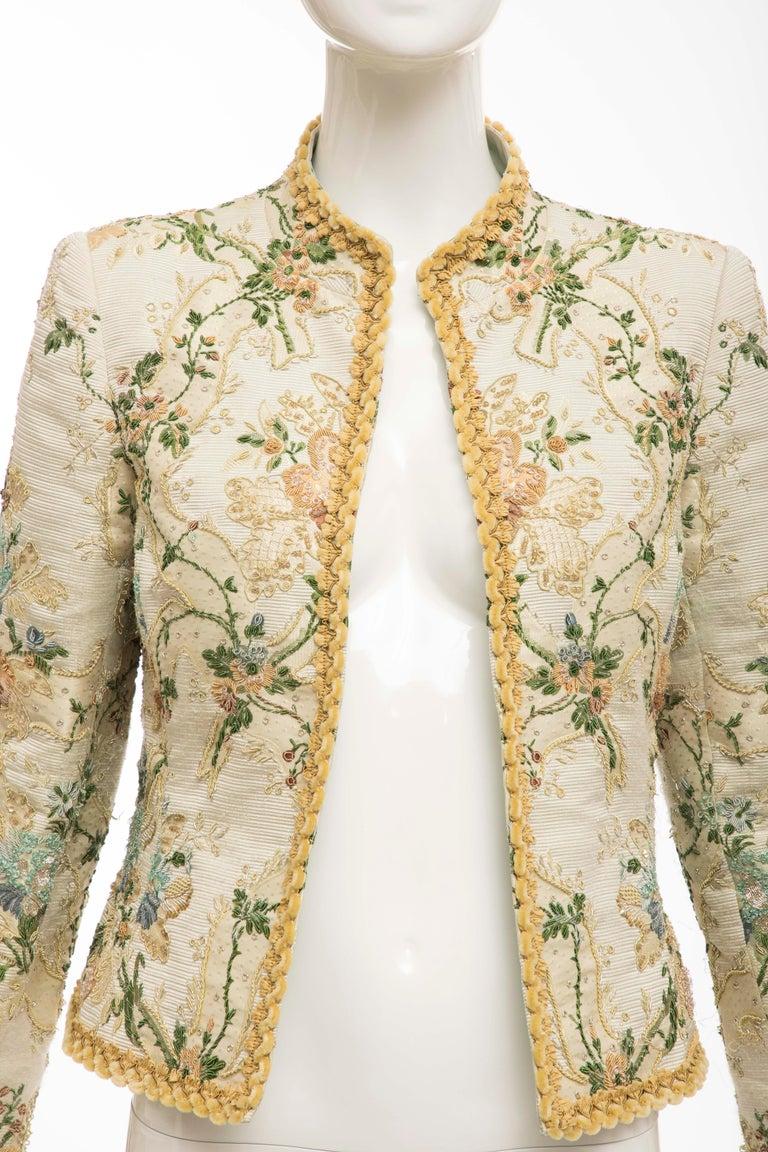 Oscar de la Renta Lesage Embroidered Evening Jacket, Circa: 1990's In Good Condition For Sale In Cincinnati, OH