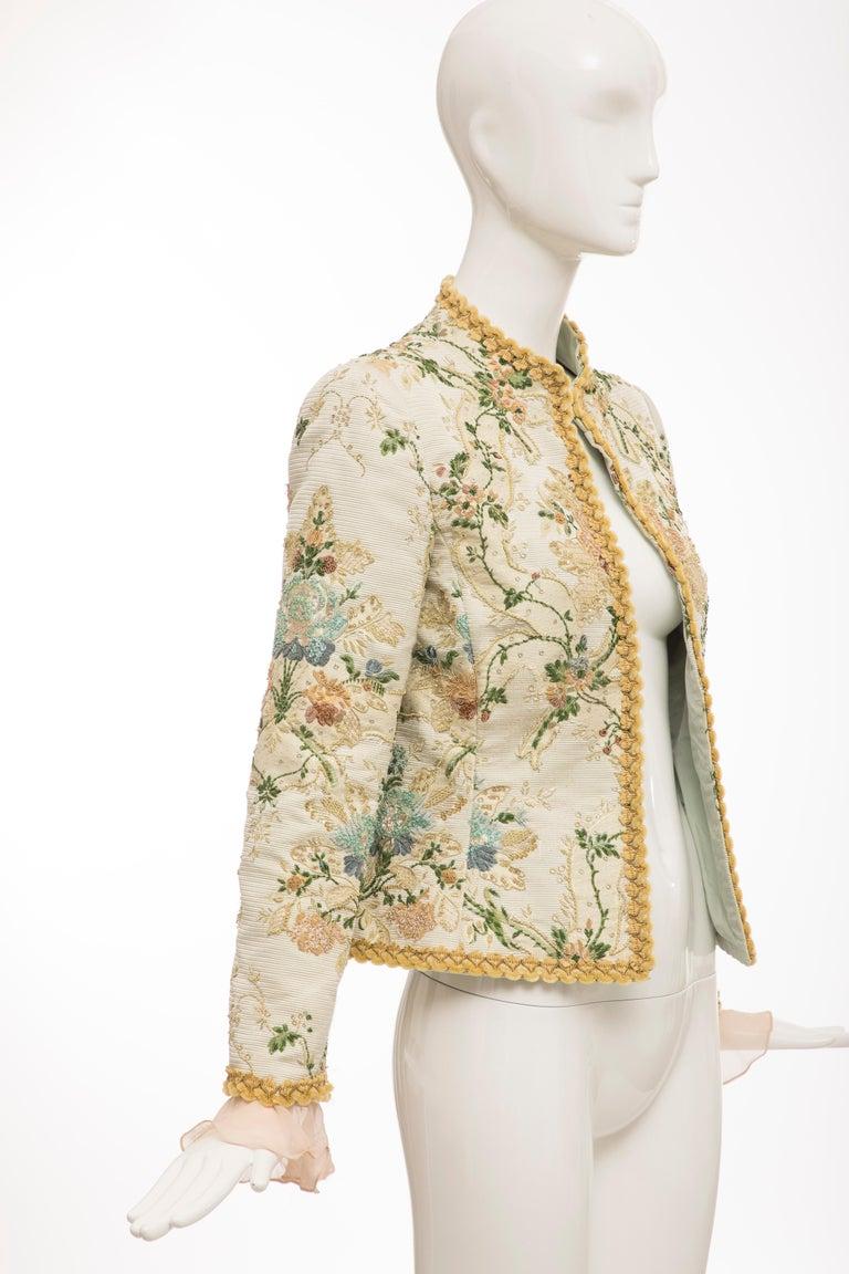 Women's Oscar de la Renta Lesage Embroidered Evening Jacket, Circa: 1990's For Sale