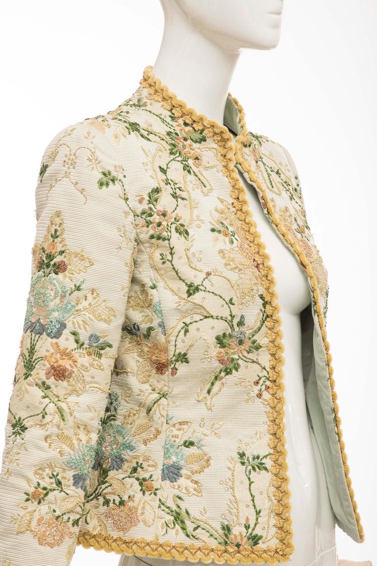 Oscar de la Renta Lesage Embroidered Evening Jacket, Circa: 1990's For Sale 1