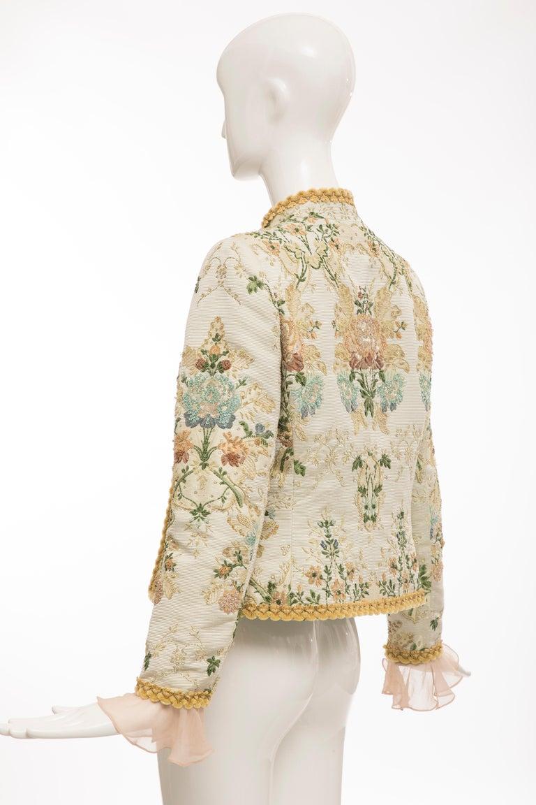 Oscar de la Renta Lesage Embroidered Evening Jacket, Circa: 1990's For Sale 5