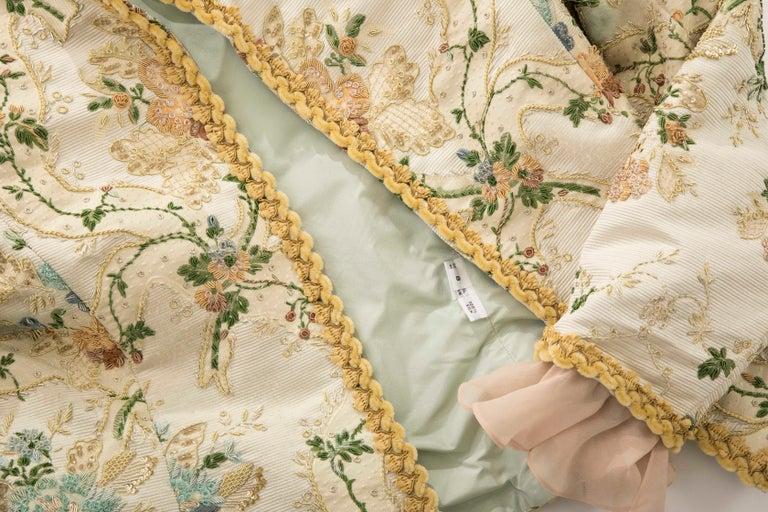 Oscar de la Renta Lesage Embroidered Evening Jacket, Circa: 1990's For Sale 10