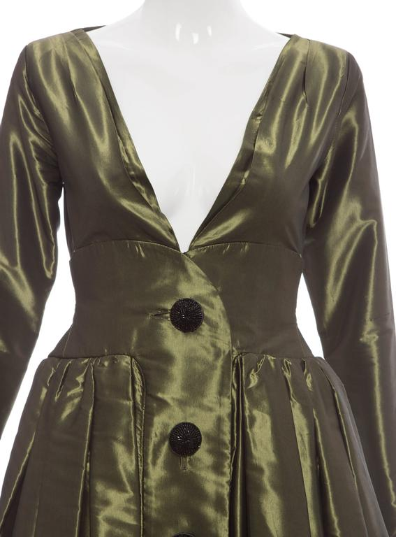 Yves Saint Laurent Rive Gauche Silk Taffeta Evening Dress, Circa 1980's For Sale 1