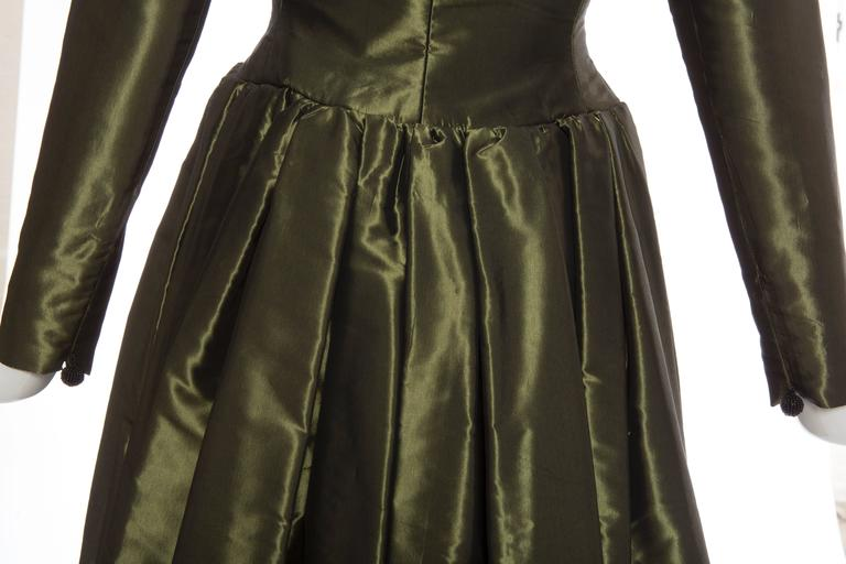 Yves Saint Laurent Rive Gauche Silk Taffeta Evening Dress, Circa 1980's For Sale 3