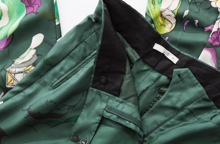 Prada Silk Cropped Pants With James Jean Fairy Print, Spring - Summer 2008 7