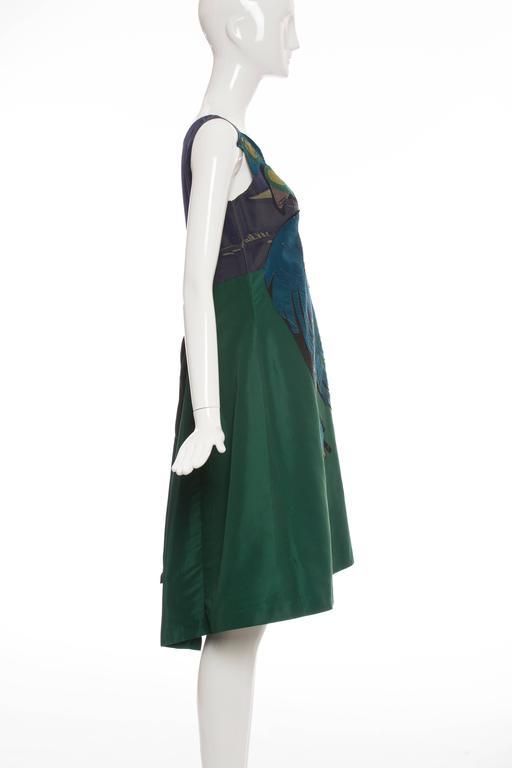 Black Prada Silk Appliquéd Dress, Spring - Summer 2005 For Sale