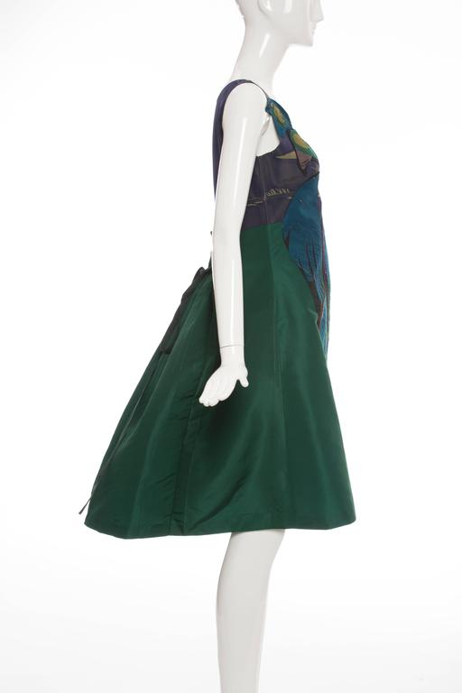 Women's Prada Silk Appliquéd Dress, Spring - Summer 2005 For Sale