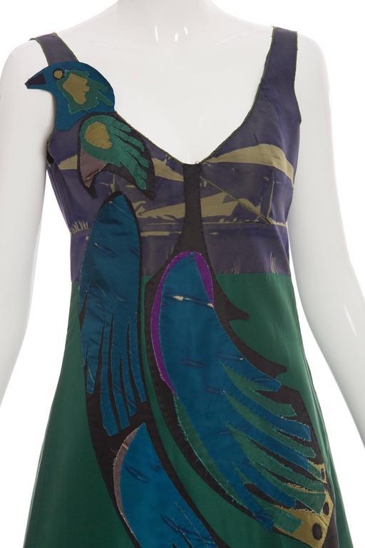Prada Silk Appliquéd Dress, Spring - Summer 2005 For Sale 1