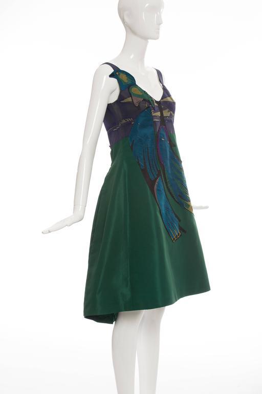 Prada Silk Appliquéd Dress, Spring - Summer 2005 For Sale 2
