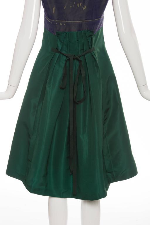 Prada Silk Appliquéd Dress, Spring - Summer 2005 For Sale 3