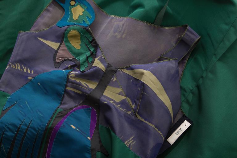 Prada Silk Appliquéd Dress, Spring - Summer 2005 For Sale 4