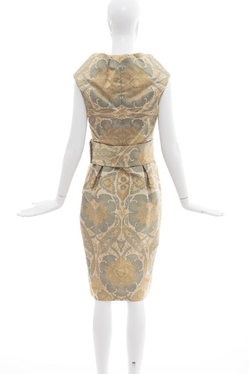 Alexander Mcqueen Silk Jacquard Evening Dress, Fall 2006 In New Condition For Sale In Cincinnati, OH