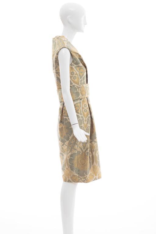 Women's Alexander Mcqueen Silk Jacquard Evening Dress, Fall 2006 For Sale