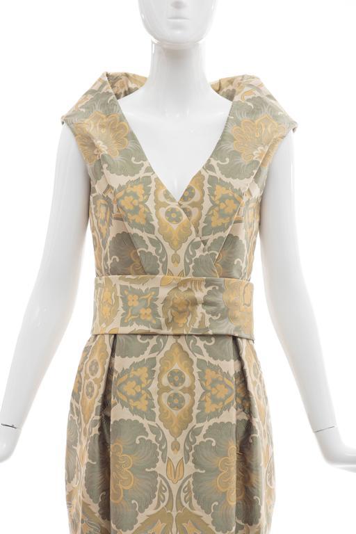 Alexander Mcqueen Silk Jacquard Evening Dress, Fall 2006 For Sale 1