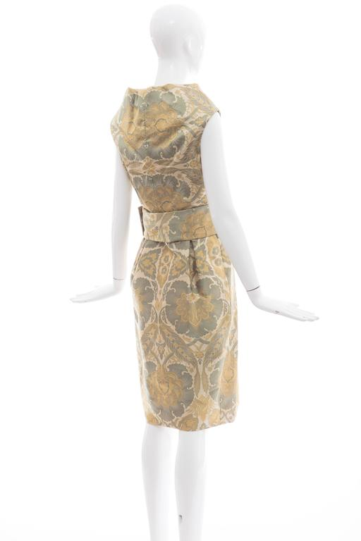 Alexander Mcqueen Silk Jacquard Evening Dress, Fall 2006 For Sale 2
