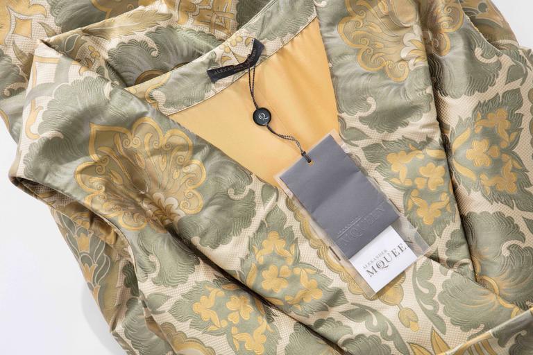 Alexander Mcqueen Silk Jacquard Evening Dress, Fall 2006 For Sale 5