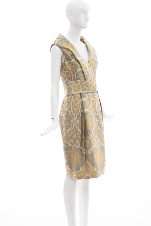 Alexander Mcqueen Silk Jacquard Evening Dress, Fall 2006 For Sale 3