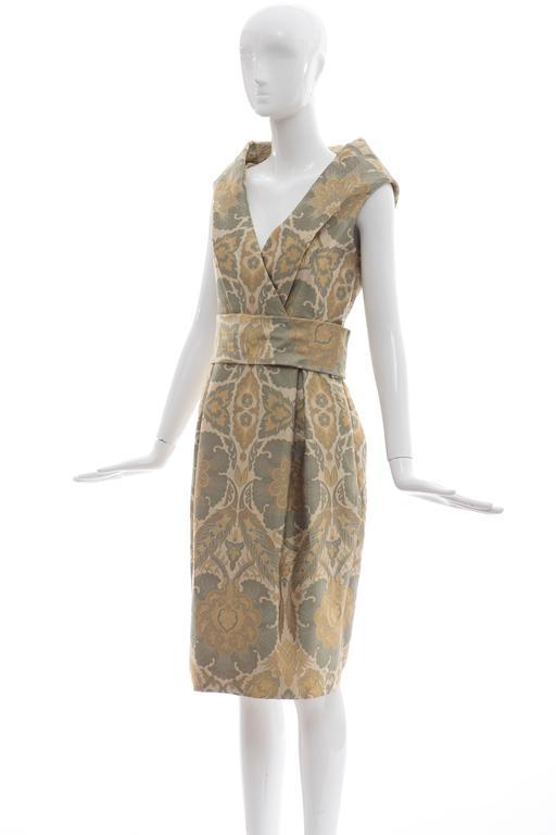 Alexander Mcqueen Silk Jacquard Evening Dress, Fall 2006 For Sale 4