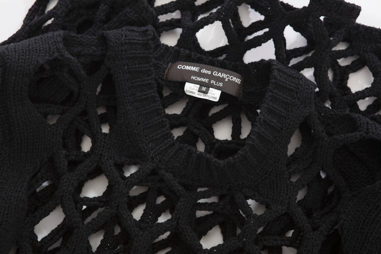 Comme des Garcons Homme Plus Black Open Knit Sweater, Spring - Summer 2015 7