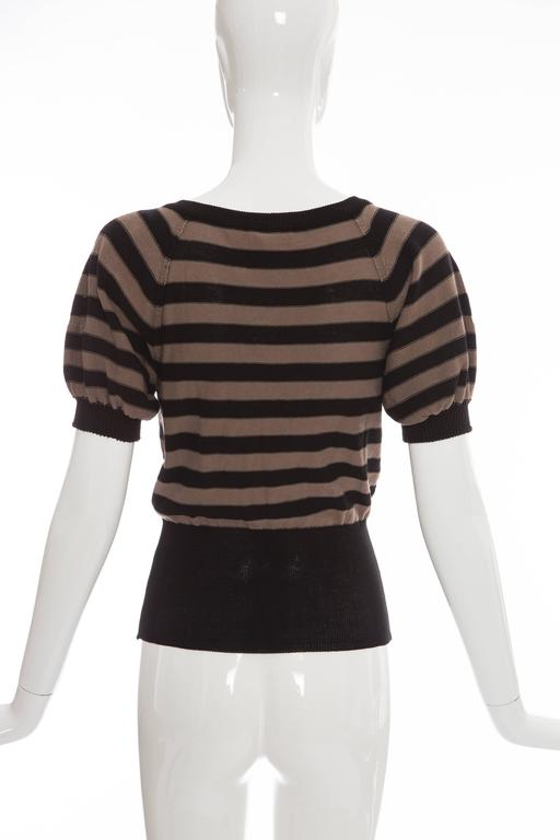 Sonia Rykiel Striped Cotton Knit Sweater, Spring - Summer 2005 In Excellent Condition For Sale In Cincinnati, OH