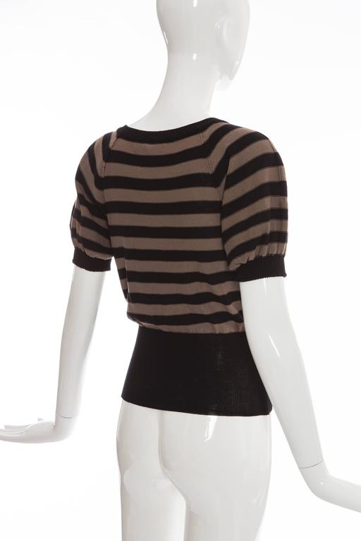 Sonia Rykiel Striped Cotton Knit Sweater, Spring - Summer 2005 For Sale 2