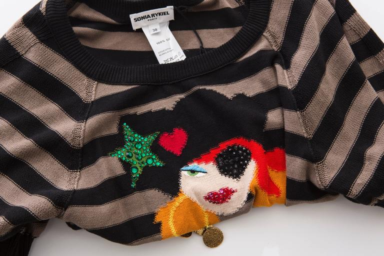 Sonia Rykiel Striped Cotton Knit Sweater, Spring - Summer 2005 For Sale 4
