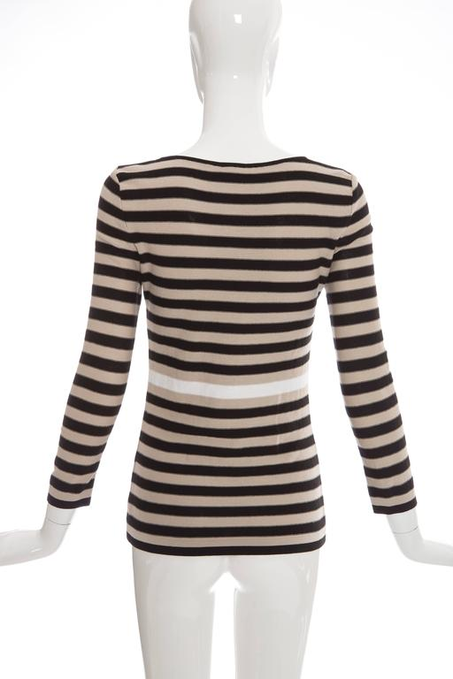 Sonia Rykiel Striped Cotton Knit Sweater, Spring - Summer 2002 In Excellent Condition For Sale In Cincinnati, OH