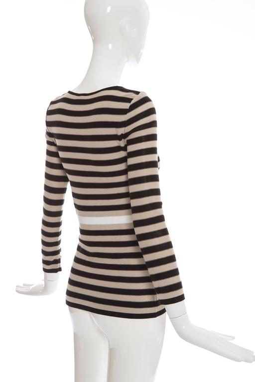 Sonia Rykiel Striped Cotton Knit Sweater, Spring - Summer 2002 For Sale 2