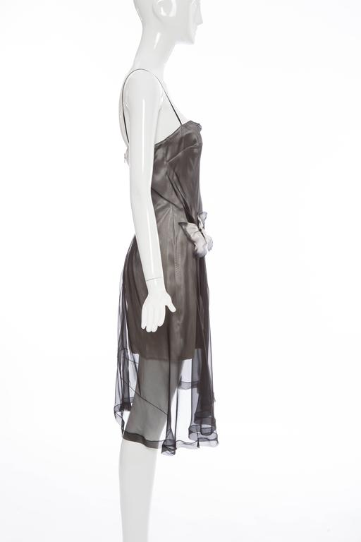 Gray Dolce & Gabbana Stromboli Collection Silk Chiffon Dress, Spring - Summer 1998 For Sale