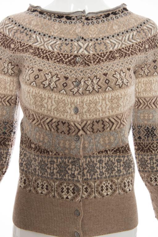 Alexander McQueen Wool Cardigan With Bateau Neckline, Autumn - Winter 2005 For Sale 1