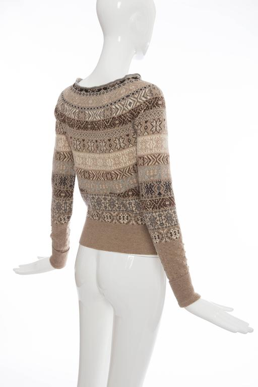 Alexander McQueen Wool Cardigan With Bateau Neckline, Autumn - Winter 2005 For Sale 2