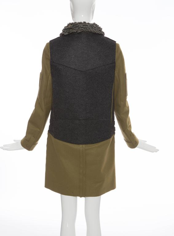 Undercover Jun Takahashi Trompe l'oeil Felt Coat, Fall 2005 In Excellent Condition For Sale In Cincinnati, OH