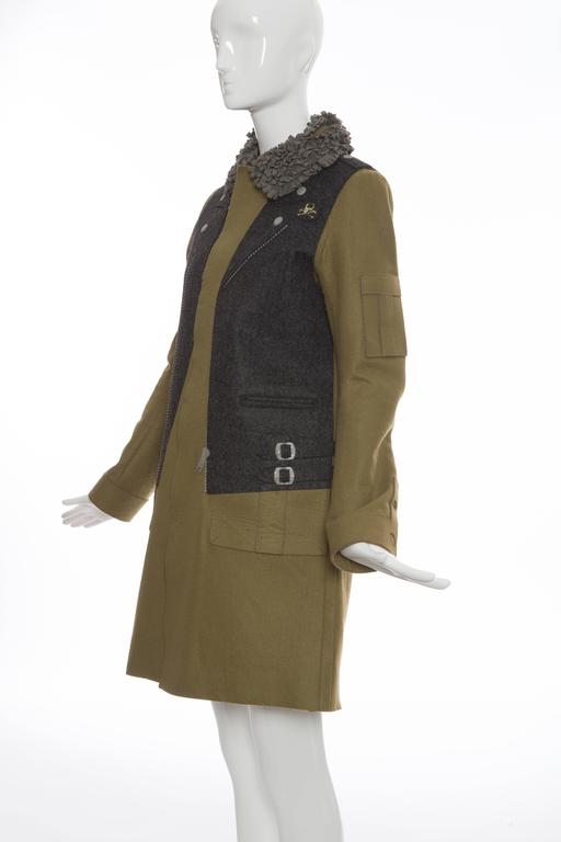 Undercover By Jun Takahashi Trompe l'oeil Felt Coat, Autumn - Winter 2005 For Sale 1