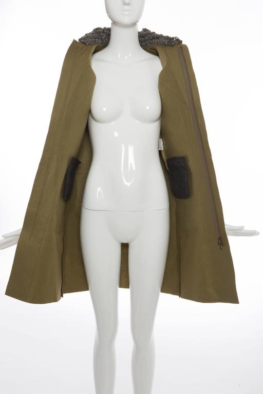 Undercover By Jun Takahashi Trompe l'oeil Felt Coat, Autumn - Winter 2005 For Sale 3