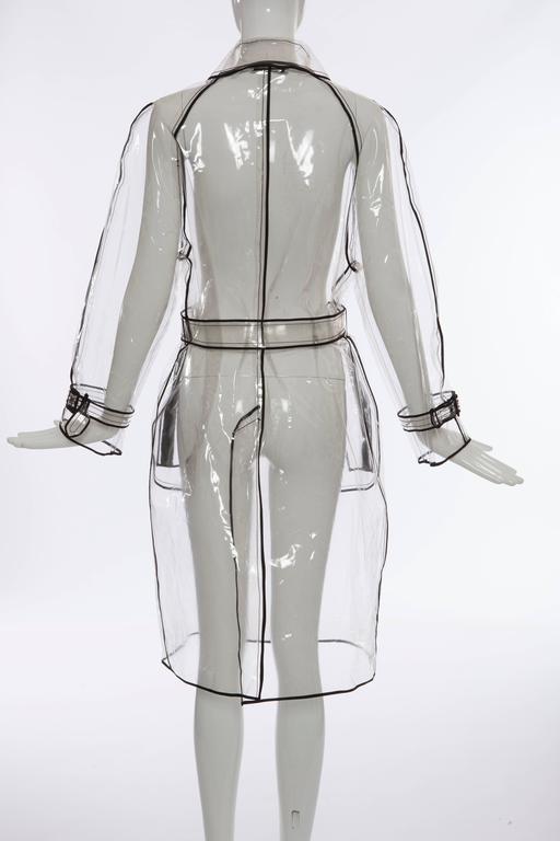 Gray Prada Transparent PVC Rain Coat, Autumn - Winter 2002 - 2003 For Sale
