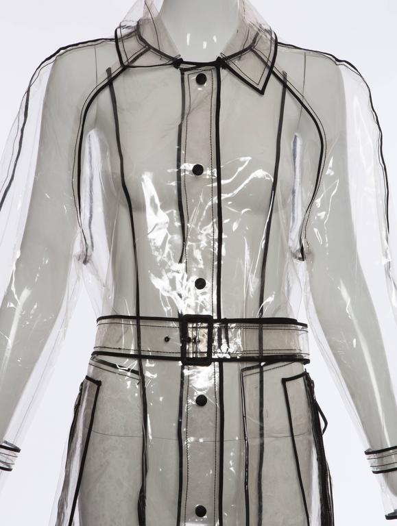 Prada Transparent PVC Rain Coat, Autumn - Winter 2002 - 2003 In Excellent Condition For Sale In Cincinnati, OH