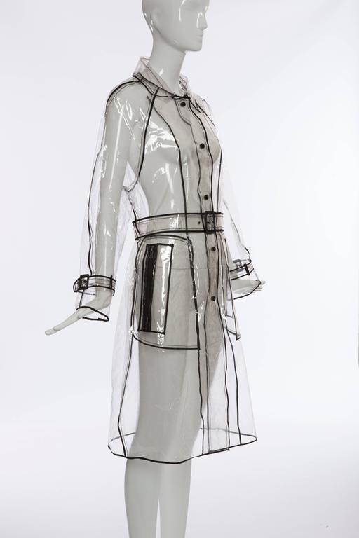 Women's Prada Transparent PVC Rain Coat, Autumn - Winter 2002 - 2003 For Sale
