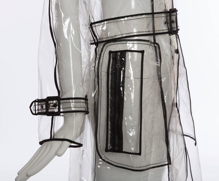 Prada Transparent PVC Rain Coat, Autumn - Winter 2002 - 2003 For Sale 1