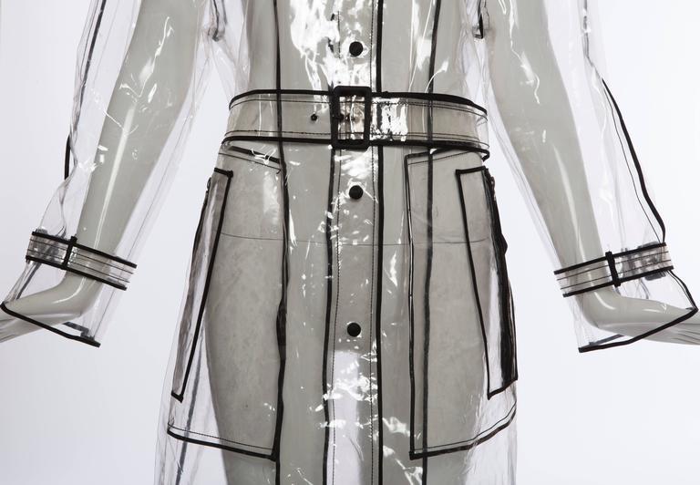 Prada Transparent PVC Rain Coat, Autumn - Winter 2002 - 2003 For Sale 3
