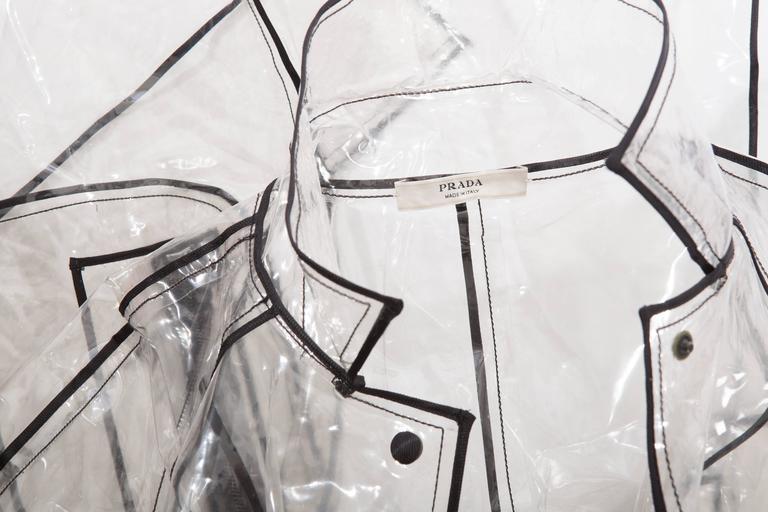 Prada Transparent PVC Rain Coat, Autumn - Winter 2002 - 2003 For Sale 4