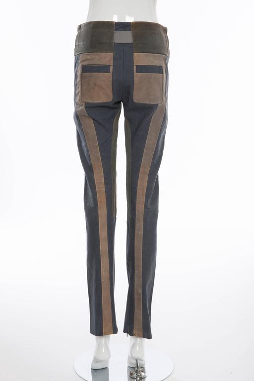 Black  Nicolas Ghesquière For Balenciaga Runway Leather Moto Pants, Spring 2010 For Sale