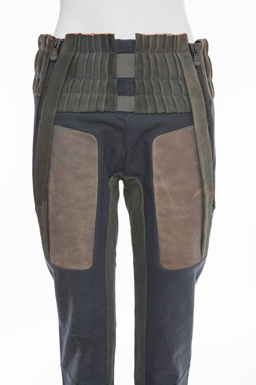 Nicolas Ghesquière For Balenciaga Runway Leather Moto Pants, Spring 2010 For Sale 1