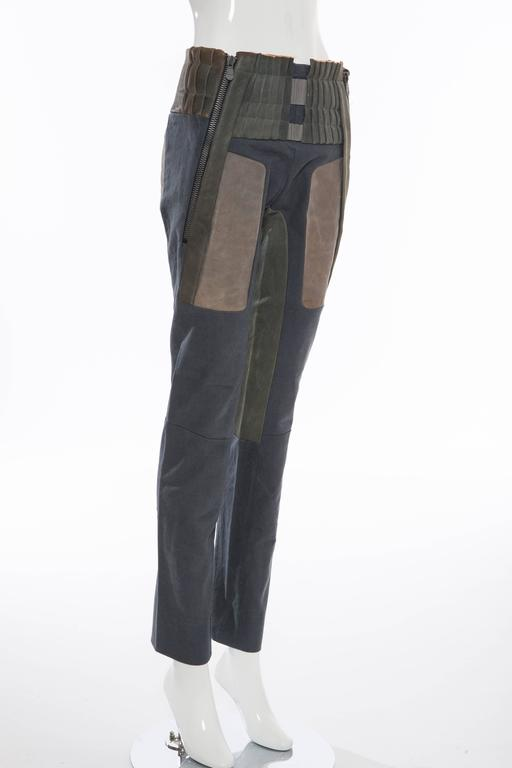 Women's  Nicolas Ghesquière For Balenciaga Runway Leather Moto Pants, Spring 2010 For Sale