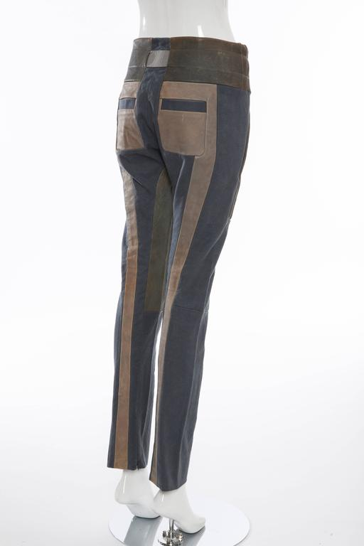 Nicolas Ghesquière For Balenciaga Runway Leather Moto Pants, Spring 2010 In Excellent Condition For Sale In Cincinnati, OH