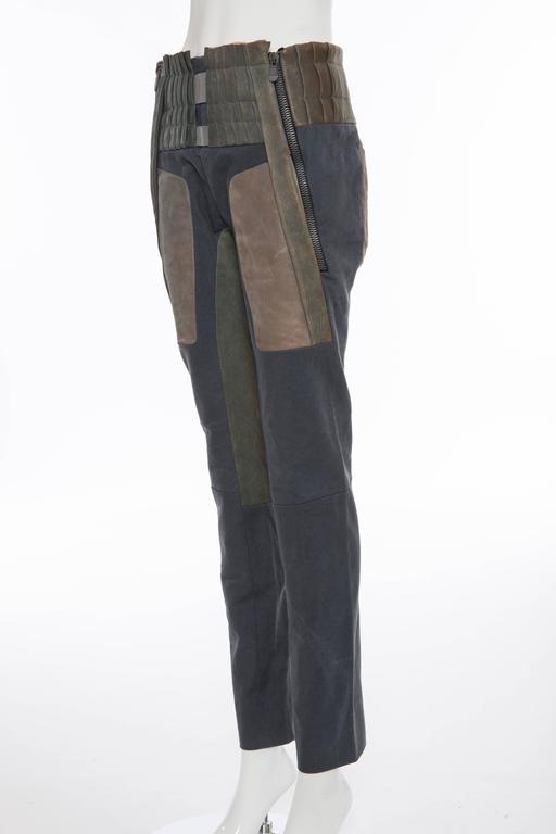Nicolas Ghesquière For Balenciaga Runway Leather Moto Pants, Spring 2010 For Sale 2
