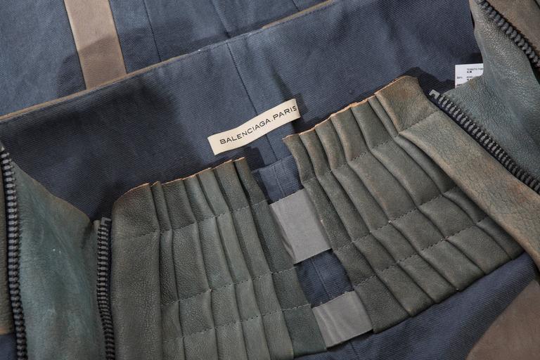 Nicolas Ghesquière For Balenciaga Runway Leather Moto Pants, Spring 2010 For Sale 3