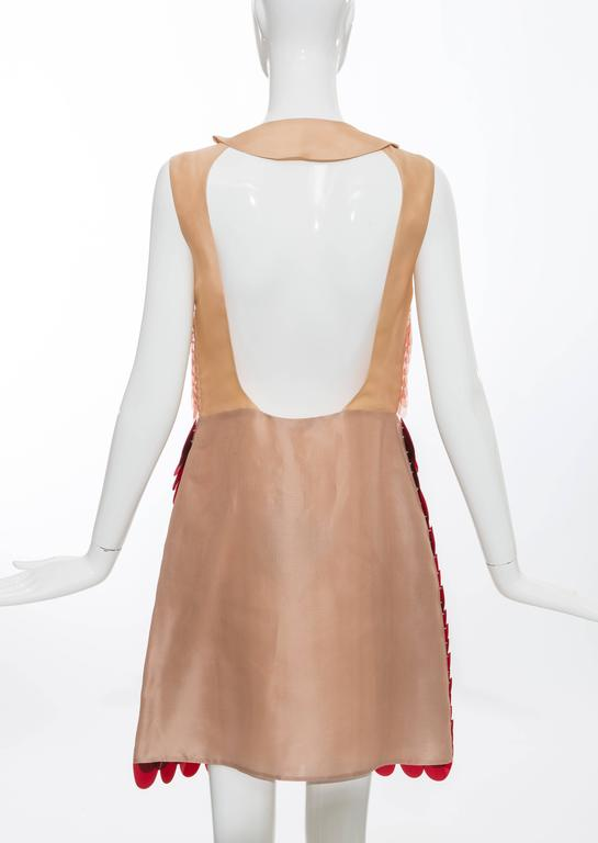 Prada Sleeveless Dress With Large Paillettes And Scoop Back, Fall 2011 In New Condition For Sale In Cincinnati, OH
