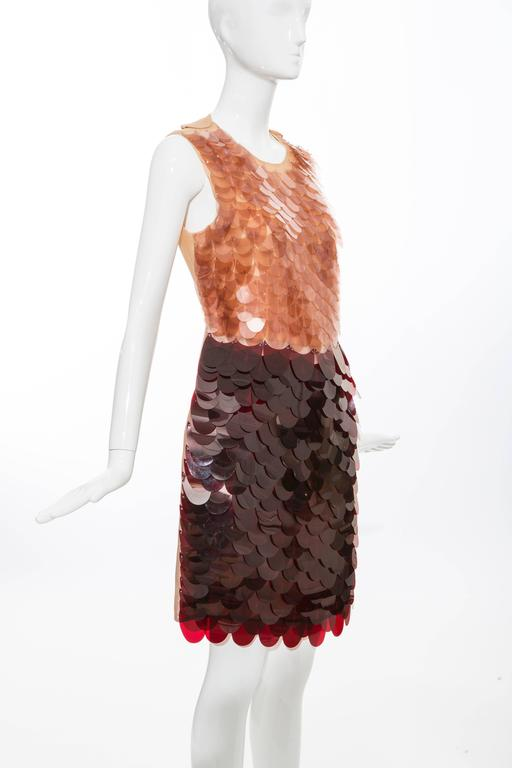 Women's Prada Sleeveless Dress With Large Paillettes And Scoop Back, Fall 2011 For Sale